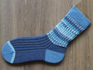 Blauwe sokken in kleine maat