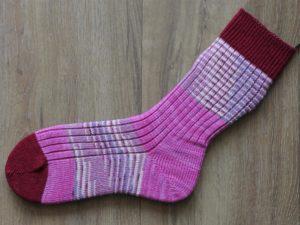 Scrappy socks rood roze 37-38