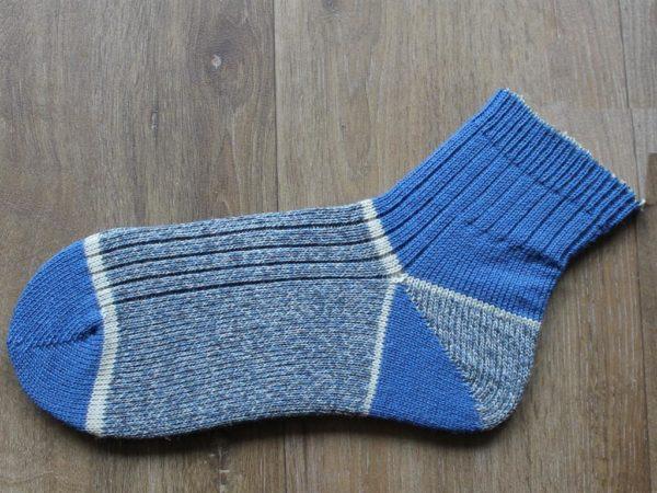 Korte blauwe wandelsokken maat 45-46