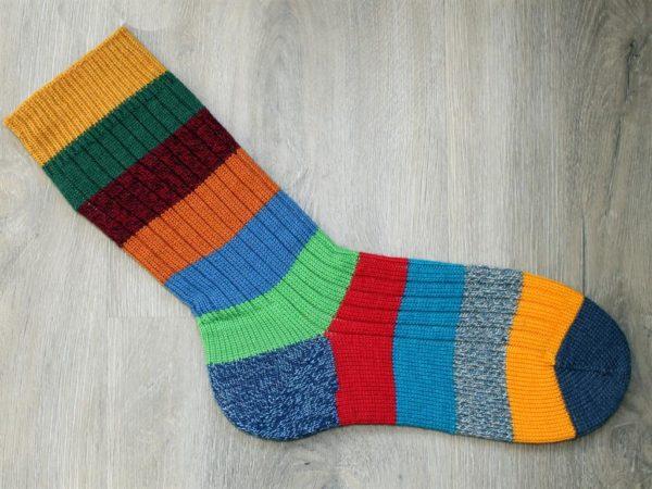 Fleurig gestreepte sokken