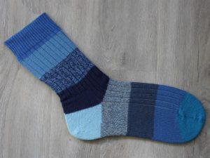 Grote blauwe sokken maat 49-50